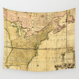 Map of Early America (1777) Wall Tapestry