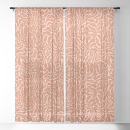 Abundance | Orange & Pink Sheer Curtain