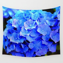 Hydrangea Blues Wall Tapestry
