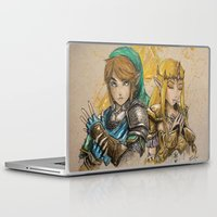 hyrule Laptop & iPad Skins featuring Hyrule Warriors by AdamScythe