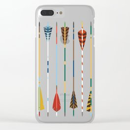 Vintage Arrows Clear iPhone Case