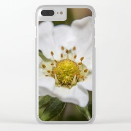 Strawberry Blossom Clear iPhone Case