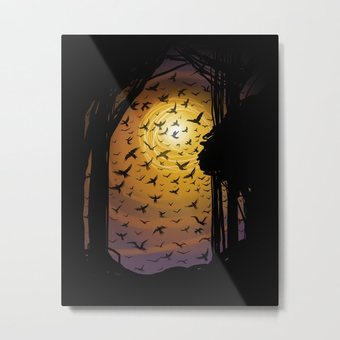 Flock Together Metal Print