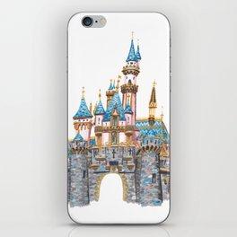 Princess Castle / Sleeping Beauty / Disneyland / Fine Art Giclee Print iPhone Skin