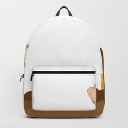 Ground, Cigarette and Flower Backpack
