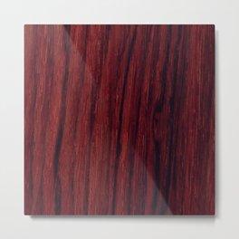 Deep red wood veneer design Metal Print