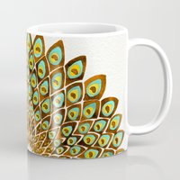 70s Mugs featuring Peacock Mandala – 70s Palette by Cat Coquillette
