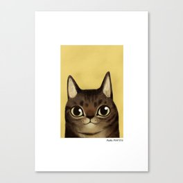Striped cat Canvas Print
