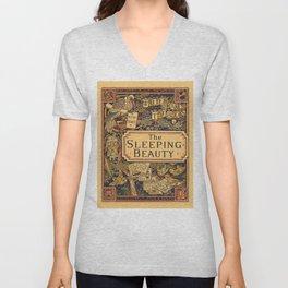 The Sleeping Beauty - Walter Crane's Toy Books Unisex V-Neck