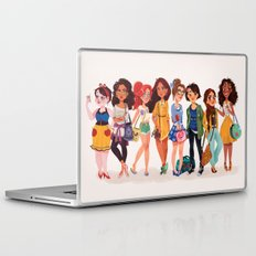 MODERN AU: Princesses Laptop & iPad Skin