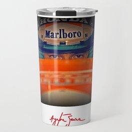 Ayrton Senna Tribute Design III Travel Mug