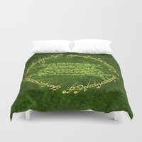 the lord of the rings Duvet Covers featuring THE LORD OF THE RINGS by Bilqis