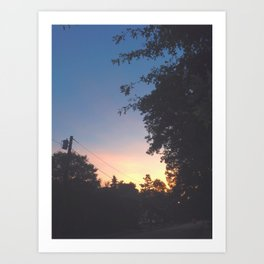 Sunset Road Art Print