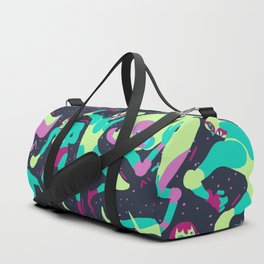 Luchadores Scramble BlueLime Duffle Bag