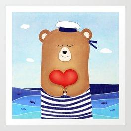 Nautical love Art Print