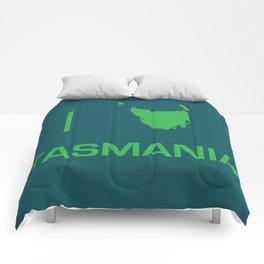 I heart Tasmania Comforters