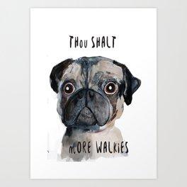 Demanding Doggie Art Print