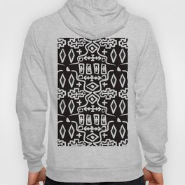 Abstract Mudcloth in Black + White Hoody