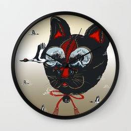 CATCRANEFISH Black Head Wall Clock