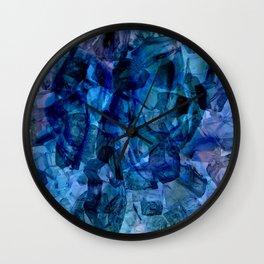 Blue Chrystal Ice Abstract Wall Clock