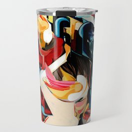 Expressive Abstract Composition painting Travel Mug