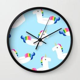 UNICORN FLOATS Wall Clock