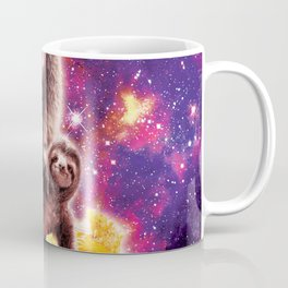 Space Cat Llama Sloth Riding Nachos Coffee Mug