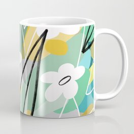 White Florals Coffee Mug