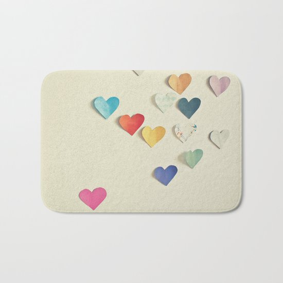 Paper Hearts Bath Mat
