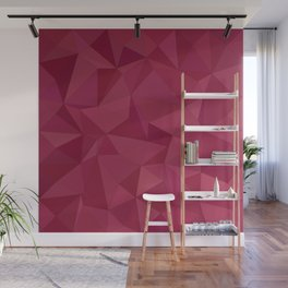 Maroon triangle tiles Wall Mural