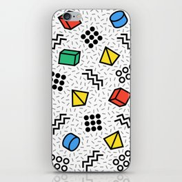 Abstract Memphis Style Pattern iPhone Skin