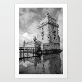 Belem Tower Lisbon Portugal Art Print