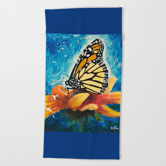 Butterfly - Discreet clarity - by LiliFlore Beach Towel