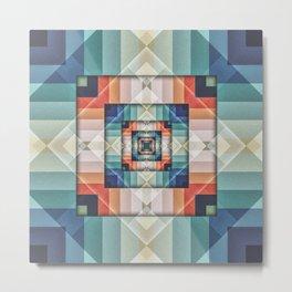 Geometric Box of Colors Metal Print
