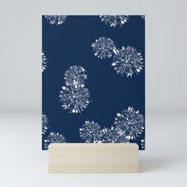 Shibori Scatter - Blue Mini Art Print