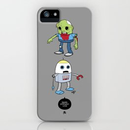 Zombie+Bot iPhone Case