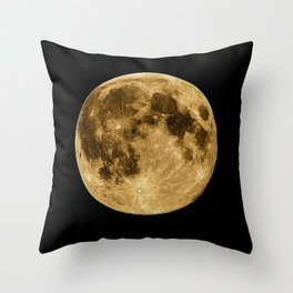 Full moon during night time Throw Pillow