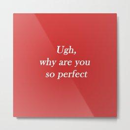 ugh: red Metal Print