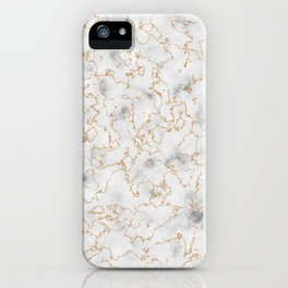 Grey Marble with Gold iPhone Case