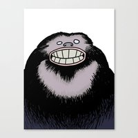 bigfoot Canvas Prints featuring Bigfoot by FireAwayMarmot