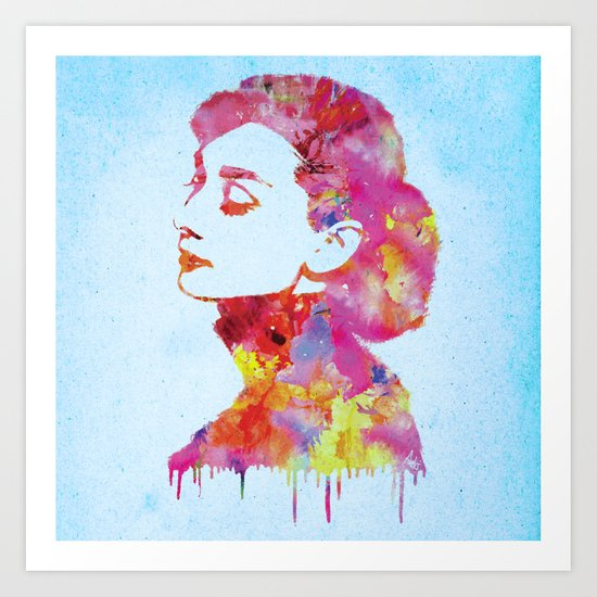 Audrey .2 Art Print