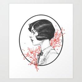 First Love Bouquet Art Print