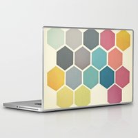 cassia beck Laptop & iPad Skins featuring Honeycomb II by Cassia Beck