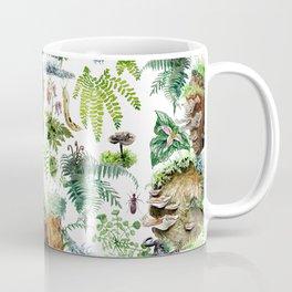 Mossy Forest Pattern White Coffee Mug
