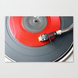 Red Vinyl Record Canvas Print