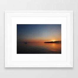 Bahamian Sunset Framed Art Print