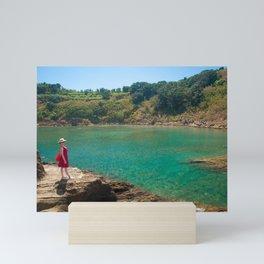 Contemplating the lagoon Mini Art Print
