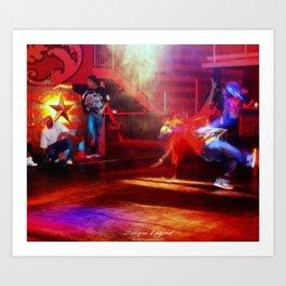 Break-dancing Art Print
