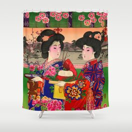 Two Geishas Shower Curtain