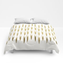 Gold Cattails Comforters